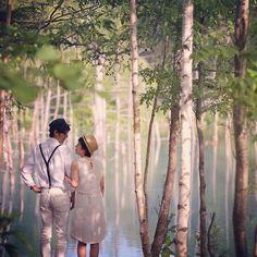 #青い池  北海道の青い池。  ここだけが唯一、 観光客さんがたーーくさんいらっしゃる場所でした。  ほとんどが外国人?  みなさん、撮影してる僕たちを気遣って下さってありがとうございました。  ほんと 北海道にいたらみんな心が優しくなるのかなぁ。  いい人ばっかりで幸せな3日間でした!  #結婚写真 #花嫁 #プレ花嫁 #結婚 #結婚式 #結婚準備 #婚約 #カメラマン #プロポーズ #前撮り #エンゲージ #写真家 #ブライダル #ゼクシィ #ブーケ #和装 #ウェディングドレス #ウェディングフォト #七五三 #お宮参り #記念写真  #ウェディング #IGersJP  #weddingphoto #bumpdesign #バンプデザイン