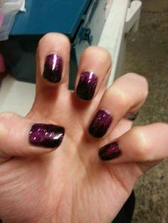 Black/Pink/Purple Rockstar Nails