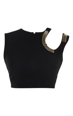 Black Fitted Cady Top by  for Preorder on Moda Operandi