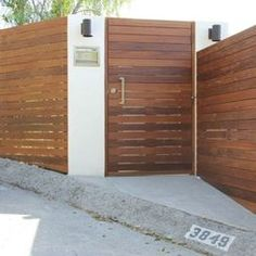 Clean lines on this smooth, modern gate. From Austin Outdoor ...