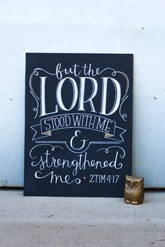 Motivational Chalkboard Sign Wall Art But The Lord por Breetique