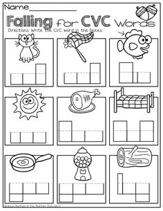 math worksheet : 1000 images about word families on pinterest  word families  : Cvc Worksheets For Kindergarten