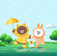 "343 Likes, 4 Comments - Cony (@cony.cherie) on Instagram: ""When the rain comes, let's hold hands and dance in the rain! # #☔️#rainydays #raincoats…"""