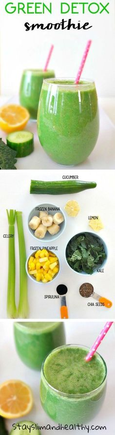 Why green smoothies are good for your health? Try this amazing Green Detox Smoothie combined with the best fat burning diet pills for maximum weight loss effect #greensmoothie #detox #phen375 #weightloss #fatburner #affiliate