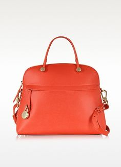 Piper Hibiscus Medium Leather Dome Bag - Furla
