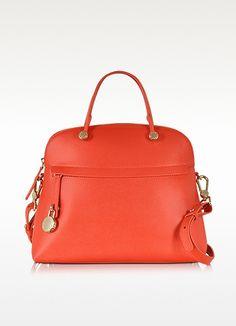 Piper Hibiscus Medium Leather Dome Bag - Furla