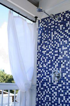 outdoor shower curtain made from plastic backed canvas drop cloth projects pinterest gardiner dukar och plast