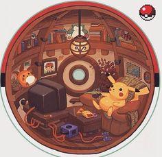 That's life inside a Poke Ball.  #pokeball #pokemon #pokemoncards #pokemontcg #pokemon20 #pokemonx #pokemony #pokemoncommunity #pokemonxy #shinypokemon #pokemonart #pokemonoras #pokemontrainer #PokemonMaster #pokemoncollector #pokemongo #pokemonsun #pokemonred #pokemonmoon #pokemonsunandmoon