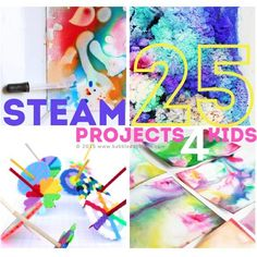25 STEAM Projects for Kids. Art projects using science, technology, engineering, art, and math.