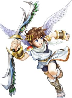 Another Pit render from Kid Icarus: Uprising. Pit, Kid Icarus (c) Nintendo Pit render 2 Character Design References, Game Character, Character Concept, Marvel Cartoon Movies, Kid Icarus Uprising, Arte Nerd, Nintendo Characters, Video Game Art, Super Smash Bros