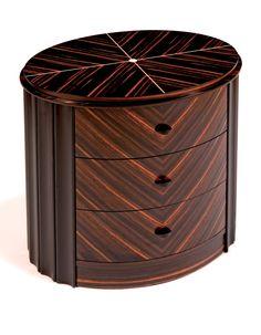 Carrington Bedside Table; Modern interpretation of Art Deco