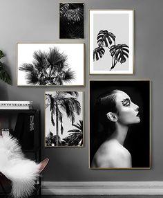 White Canvas Art, Black And White Wall Art, Canvas Wall Art, Wall Art Prints, Black White, Black Canvas, Canvas Prints, Leaf Wall Art, Tree Wall Art
