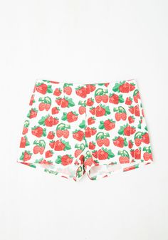 Beat Around the Bushel Shorts. Lets cute to the chase - these berry shorts from Spanish brand Kling are the sweetest look of the season! #multi #modcloth