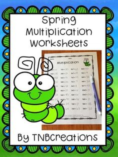 Have fun practicing basic multiplication facts with these Spring Multiplication worksheets!    In this product you will receive 5 printable basic fact multiplication worksheets. Separate answer keys are included. Perfect for grades 3-4 to practice those basic facts!