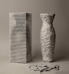 paolo ulian + moreno ratti shape introverso 2 marble vase with dual personality
