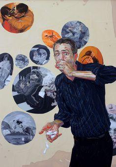 "Multi talented Brooklyn based artist Brian Adam Douglas (Elbow Toe) at http://www.elbowtoe.com/  ""Your Silent Face"""