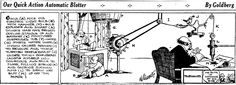 Automatic Blotter – Rube Goldberg rubegoldberg.com Collection of Inventions