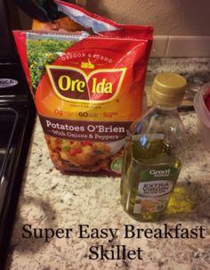 Super easy breakfast skillet. Great for breakfast or dinner.