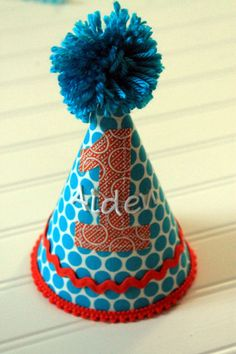Personalized Aqua and Orange Baby Boy Birthday by sweetdelights1