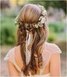 11 Amazing Half Up- Half Down Hairstyles for the Summer Bride | Mine Forever