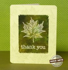 Hero Arts Cardmaking Idea: Thank You Card on Fabric!