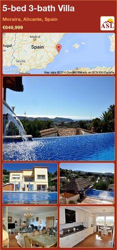 5-bed 3-bath Villa in Moraira, Alicante, Spain ►€649,999 #PropertyForSaleInSpain