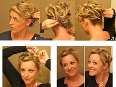 I might be able to get my hair into an updo like this...Great for humid days like today!