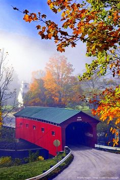 Covered bridge at West Arlington, Vermont, New England.                                                                                                                                                                                 More