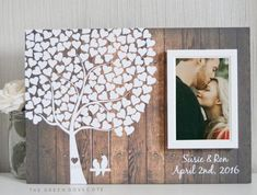 Wedding Tree Guest Book Wedding Guestbook by TheGreenDovecote #weddingguestbook