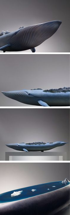 Ruilin Wang - DREAMS Ark I For millennia, cultures around the world have celebrated the origin myth of of a giant animal—such as a turtle or elephant—supporting the world on its back. Beijing-based artist Ruilin Wang reinterprets that image in DREAMS-ark, an evocative series of sculptures that depict whales carrying entire landscapes on their backs. Each large-scale work consists of a distinct type of whale paired with a different world.