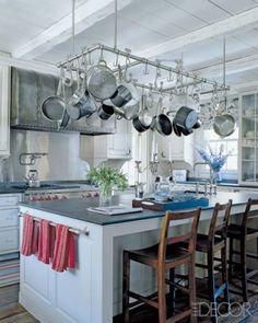 The overhead pot rack just frees up so much storage. The only thing is, all of them would have to go into the dishwasher every couple of days to prevent them from getting grimy. Thoughts?