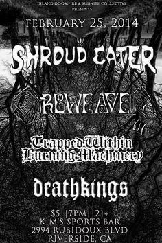 Shroud Eater, TWBM, Deathkings - Riverside 2014
