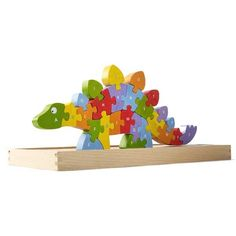 BeginAgain Dinosaur A to Z Puzzle and Playset - Educational Wooden Alphabet Puzzle - 2 and Up Dinosaur Alphabet, Dinosaur Puzzles, Wooden Alphabet, Dinosaur Toys, Toddler Toys, Kids Toys, Rainbow Resource, Puzzles For Toddlers, Upper And Lowercase Letters