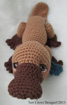 Simply Cute Platypus Crochet Pattern by Teri Crews Wool and Whims on Etsy, $5.23 CAD