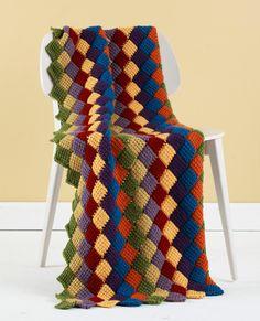 Tunisian Crochet Entrelac Throw                                                                                                                                                                                 More