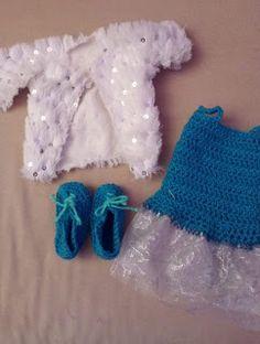 """Les Idées D""""Eco"""" selon FrancaB: Suite Princesse Ariel Crochet, Jacket, Chrochet, Crocheting, Knits, Hand Crochet"""