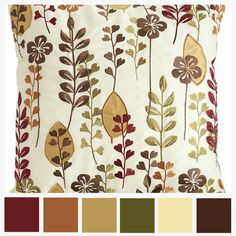Color Palette for FREE!!! throw pillow color swatch example