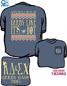 Kappa Delta, Sigma Chi Derby Days Delta Phi Epsilon, Alpha Chi Omega, Sigma Kappa, Kappa Delta, Phi Mu, Theta, Fraternity Shirts, Sorority Shirts, Sorority Socials