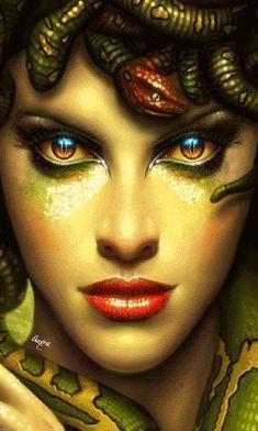 Medusa Painting, Medusa Art, Medusa Gorgon, Medusa Tattoo Design, Chica Gato Neko Anime, Girl Face Drawing, Gothic Fantasy Art, Harley Quinn Comic, Fantasy Warrior