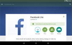 #Facebook Lite; la gran solución para equipos de poca potencia | Infosertec
