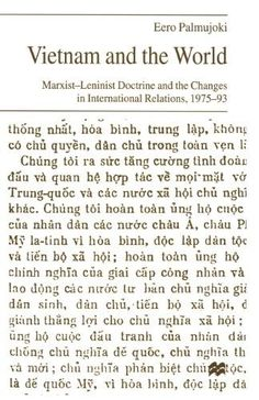 Vietnam and the World:Marxist-Leninist Doctrine and the Changes in International Relations, 1975-93