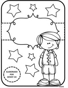 A                                                                                                                                                                                 Más Cute Coloring Pages, Coloring Sheets, Cute Scrapbooks, School Labels, Bullet Journal Art, Borders For Paper, Binder Covers, Writing Paper, Graphic Organizers