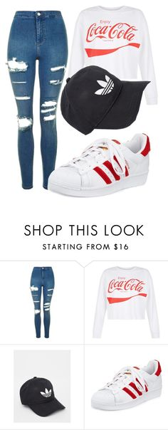 """""""Untitled #91"""" by misszoe101 on Polyvore featuring Topshop, New Look and adidas"""