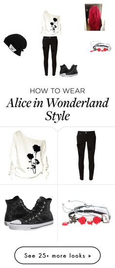 """Roses are red.."" by bandgirling13 on Polyvore featuring Don't Cry, Disney, Converse and Vans"