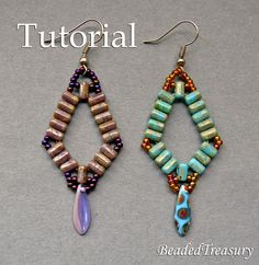 Beaded Treasury: Simplicity - beadwoven earrings with Rulla beads