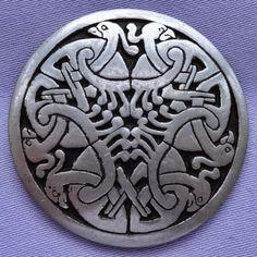 Elegant Details About Vintage Pewter ST JUSTIN CORNWALL Celtic Bird Brooch