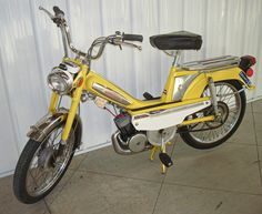 Made in Italy, this 1976 Motobecane Mobylette Moped has fabulous Italian styling and flair. Combining skilled craftsmanship with appealing aesthetics, it has a sturdy frame with the original clean . Vintage Moped, Moped Scooter, 50cc, Mini Bike, My Ride, Motorbikes, Classic Cars, Bicycle, Genre