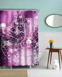 Star Wars Millenium for shower curtains bathroom the best design - Shower Curtains