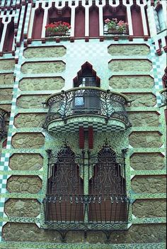 """Casa Vicens is a family residence in Barcelona, designed by Antoni Gaudí and built for industrialist Manuel Vicens. It was Gaudí's first important work. It was added to the UNESCO World Heritage Site """"Works of Antoni Gaudí"""" in 2005."""