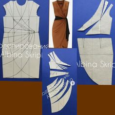 Bag Tutorial and Ideas Gown Pattern, Jacket Pattern, Dress Sewing Patterns, Clothing Patterns, Apron Patterns, Sewing Clothes, Diy Clothes, Diy Dress, Wrap Dress